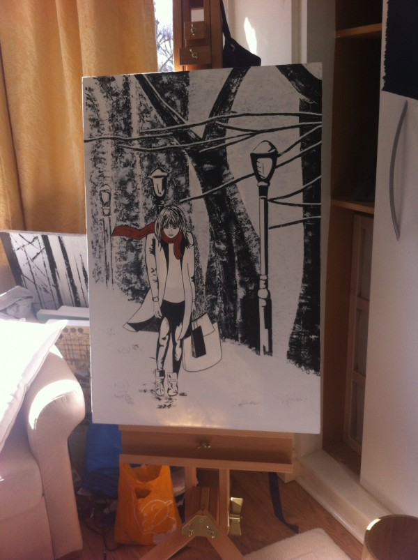 Winter Girl Painting