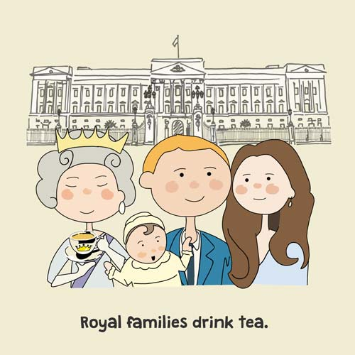 'Royal families drink tea' a page from the book
